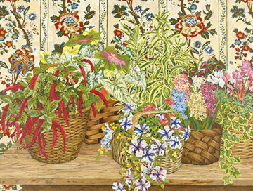 Wicker Baskets  1991 Limited Edition Print - John Powell