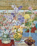 Lily Vase 1986 Limited Edition Print by John Powell - 1