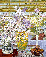 Lily Vase 1986 Limited Edition Print by John Powell - 0