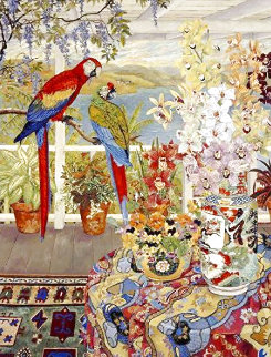 Parrots on the Veranda 1990 Limited Edition Print - John Powell