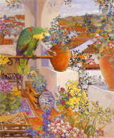 Parrot and Rooftops 1985 Limited Edition Print by John Powell - 1