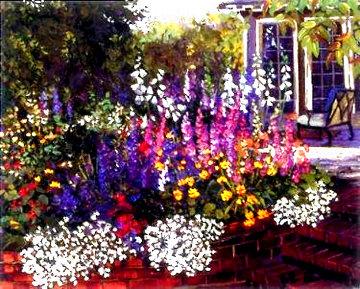 Red Brick Garden 2000 Limited Edition Print - John Powell