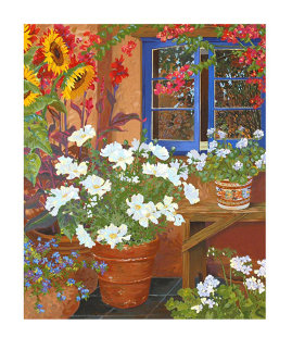 Blue Window AP 1998 Limited Edition Print - John Powell