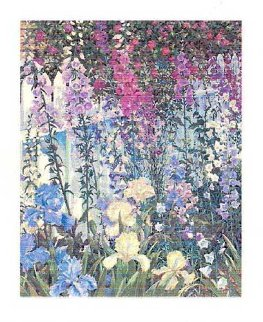 Foxgloves and Irises 1994 Limited Edition Print by John Powell