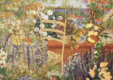 Bountiful Garden 32x42 Original Painting - John Powell
