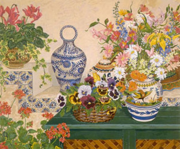 Pansy Basket 1988 Limited Edition Print by John Powell