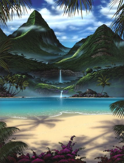 Tropical  Jewel 1999 Limited Edition Print by Steven Power