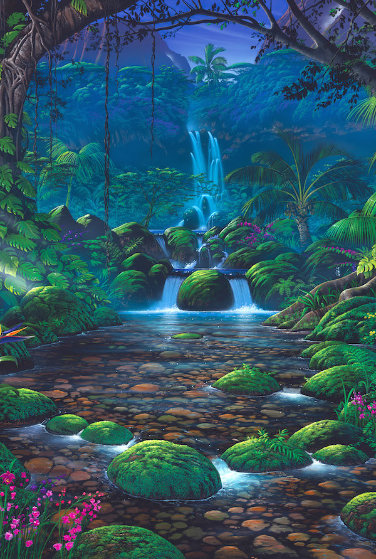 Chrystal Falls 1999 Limited Edition Print by Steven Power