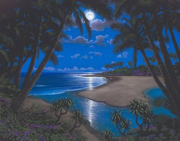 Moonlight Bay Embellished  Limited Edition Print by Steven Power