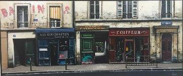 Les Boucholeurs 2002 56x116 Mural Original Painting - Thomas Pradzynski