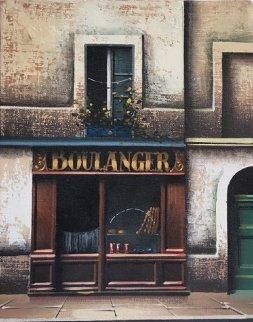 Boulanger 1985 9x7 Original Painting - Thomas Pradzynski