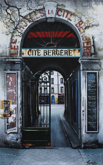 Cite Bergere 1998 35x26 Original Painting - Thomas Pradzynski