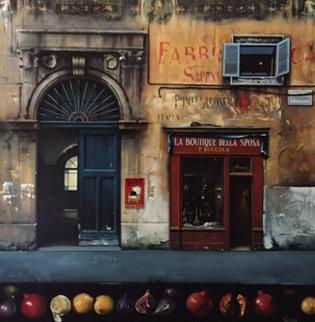 La Boutique Della Sposa 2000 42x42  Huge Original Painting - Thomas Pradzynski
