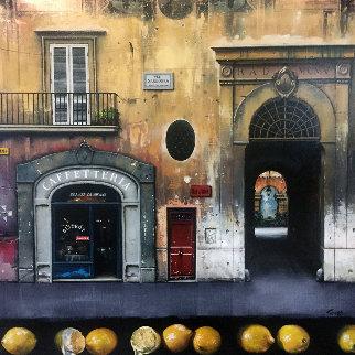 Gelati Crostini 2001 42x42 Original Painting - Thomas Pradzynski