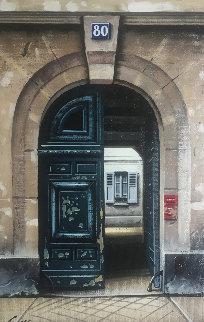 La Porte 80 1996 20x16 Original Painting - Thomas Pradzynski