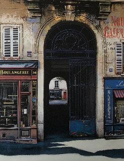 Rue Vieille Du Temple  1998 45x35 Original Painting by Thomas Pradzynski
