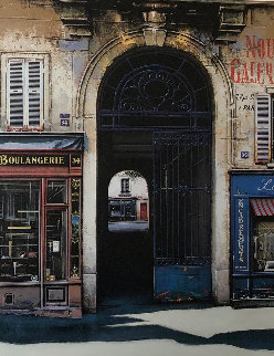 Rue Vieille Du Temple  1998 45x35 Original Painting - Thomas Pradzynski