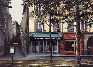 Le Bacchus Gourmand Huge  Limited Edition Print - Thomas Pradzynski