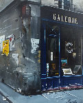 Galerie Rue Du Bac 30x27 Original Painting - Thomas Pradzynski