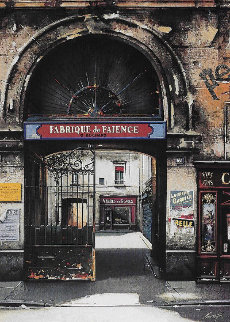 Fabrique De Faience And Villa Rimbaud: Passages De Paris, Suite of 2 AP 1997  Limited Edition Print - Thomas Pradzynski