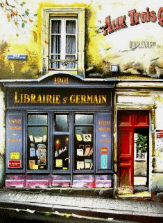 Libraire St. Germaine Limited Edition Print by Thomas Pradzynski
