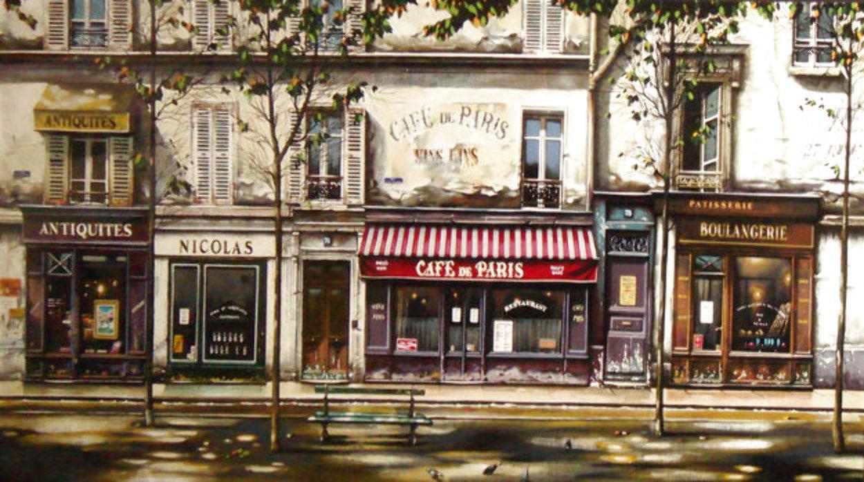 Cafe De Paris 1993 Deluxe Limited Edition Print by Thomas Pradzynski