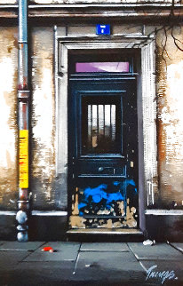 Rue Des Sauces 2000 19x16 Original Painting - Thomas Pradzynski