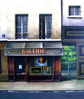 Gallery Galerie 1999 18x20 Original Painting - Thomas Pradzynski