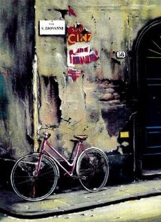Une Bicyclette a Florence 1991 Limited Edition Print - Thomas Pradzynski