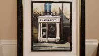 La Pharmacie En Blanc 1991 24x27 Original Painting by Thomas Pradzynski - 2