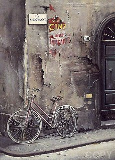 Un Bicyclette a Florence AP 1991 Limited Edition Print - Thomas Pradzynski