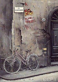 Un Bicyclette a Florence AP 1991 Limited Edition Print by Thomas Pradzynski