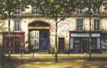 La Cremerie AP 1999 40x54 Huge Limited Edition Print - Thomas Pradzynski