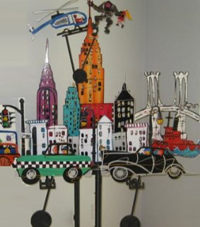 New York New York Metal Kinetic Sculpture 1990 74 in Sculpture by Frederick Prescott