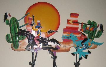 Wild, Wild West Kinetic Sculpture 1993 Sculpture by Frederick Prescott