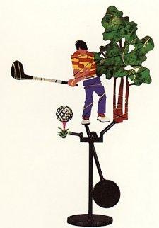 Golfer Kinetic Sculpture 1990 Sculpture - Frederick Prescott