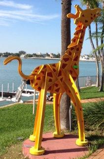 Kinetic Giraffe Medium Size Unique Steel Sculpture 10 feet tall Sculpture by Frederick Prescott