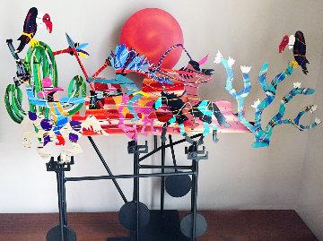 Tangle CBAI  Steel Kinetic Sculpture 1987 Sculpture by Frederick Prescott