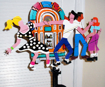 Rock And Roll 2 Kinetic Metal Sculpture 1996 Sculpture by Frederick Prescott