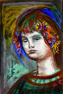 Girl 1940 27x20 Works on Paper (not prints) by Josef Presser