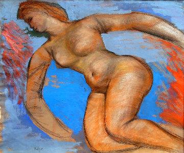 Nude 1950 26x31 Original Painting - Josef Presser