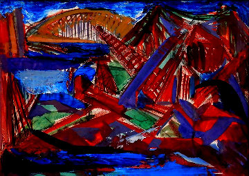 Bridge 1940 20x25 Works on Paper (not prints) - Josef Presser