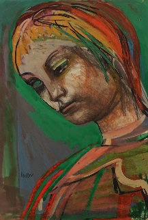Girl 1940 25x19 Works on Paper (not prints) by Josef Presser
