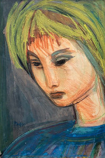Meditation 1950 26x22 Works on Paper (not prints) - Josef Presser