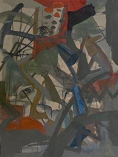Ship Yard 1945 20x17 Works on Paper (not prints) - Josef Presser