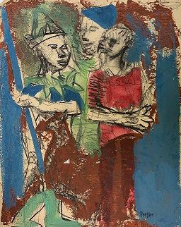 Boys 1950 22x17 Works on Paper (not prints) by Josef Presser