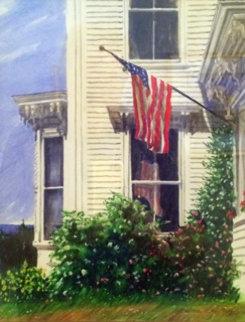 Vinalhaven Victorian Watercolor 2001 22x19 Watercolor - Barbara Ernst Prey