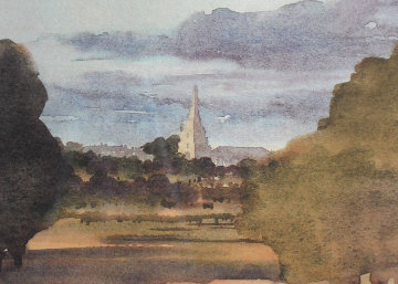 Tetbury Church From Highgrove House 2000 Limited Edition Print -  Prince Charles