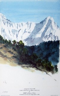 Annapurna Nepal 1992 Limited Edition Print by  Prince Charles