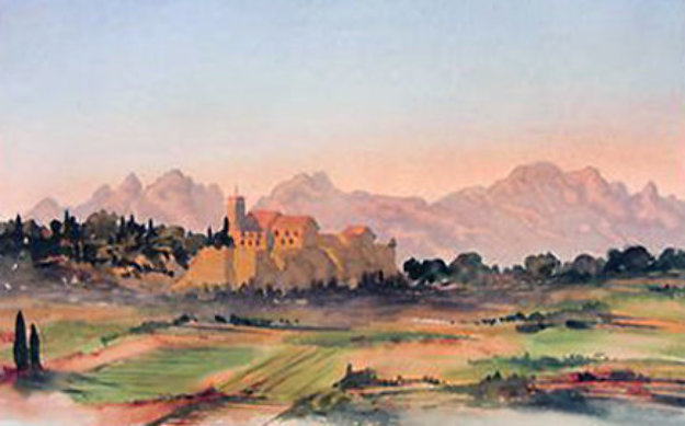 View in South of France 2002 Limited Edition Print by  Prince Charles